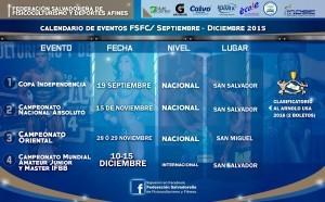 Calendario eventos Sep-Dic